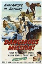 Dangerous Mission 1954 DVD - Victor Mature / Piper Laurie